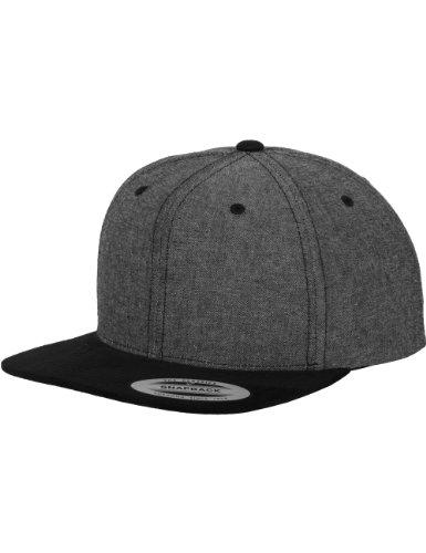 Flexfit Flexfit Erwachsene Mütze Chambray-suede Snapback, Grey/Black, One size, 6089CH