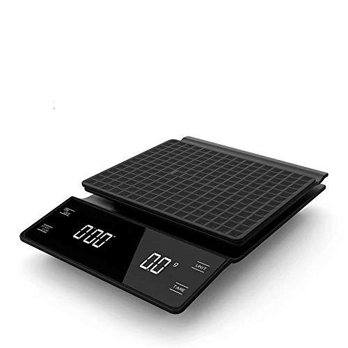 0,1 g elektronische Kaffeewaage mit Timer Hochgenaue digitale Küchenwaage Timer Kaffee Gewichtsausgleich ohne Batterie 3 kg