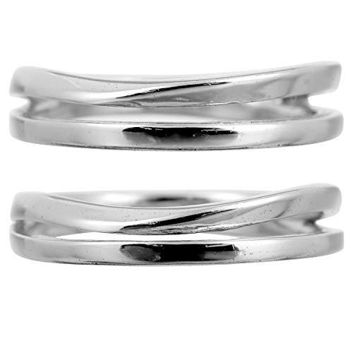 [ココカル]cococaru ペアリング プラチナ 結婚指輪 プラチナ Pt900 2本セット マリッジリング 日本製 (レディースサイズ8号 メンズサイズ12号)