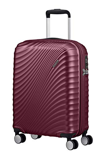 American Tourister Jetglam Spinner S Bagaglio a Mano, 55 cm, 35.5 L, Viola (Metallic Grape Purple)