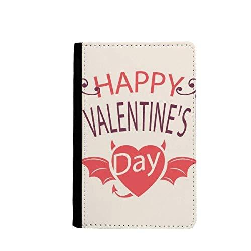beatChong Las Alas del Diablo del Corazón del Día De Pasaporte Monedero Tarjeta De Caso De La Cubierta Cartera De Viaje De San Valentín Feliz