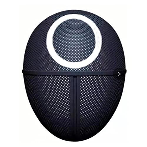 DKaony Squid Game -오징어 게임- Latexmaske, Full Face Mask, Beliebtes TV-Spiel Cosplay Gesichtsbedeckung 2021 TV Cosplay Vollgesichtsbedeckung Maskerade Zubehör Halloween Requisiten (Circular)