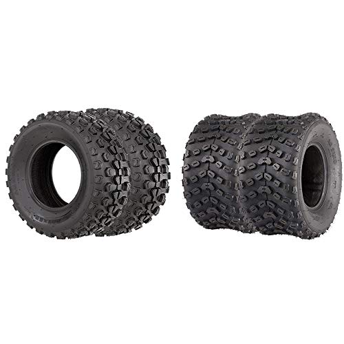 VANACC Set of 4 ATV/UTV Tires 22x7-10 Front 22x10-10 Rear Tubeless