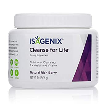 Isagenix Cleanse for Life - Detox Cleanse Drink with Vitamin B12 Niacin and Vitamin B6 for Overall Wellness - 96 Gram Canister  Natural Rich Berry Flavor