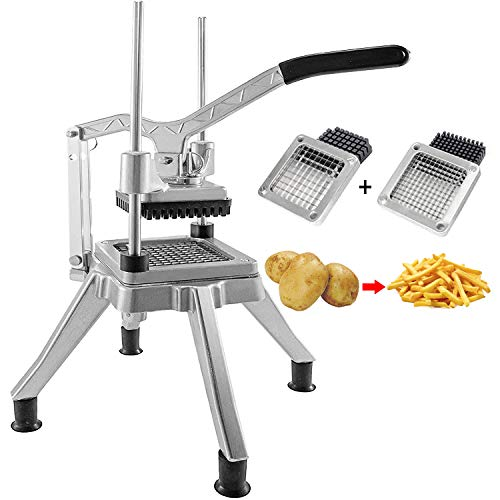Dicer de verduras comercial de acero inoxidable fácil picador picador con doble hoja 1/4 pulgadas 3/8 pulgadas Máquina de corte de...