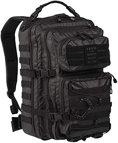 Mil-Tec EE.UU. Mochilla Assault Pack (Large/Tactical Black) ⭐