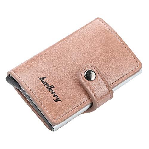 XUEE Heren Portemonnee Credit Card, Imitatie Magnetische RFID Automatische Elastische Kaarttype Metaal Aluminium Shell Anti-Diefstal Kaartpakket
