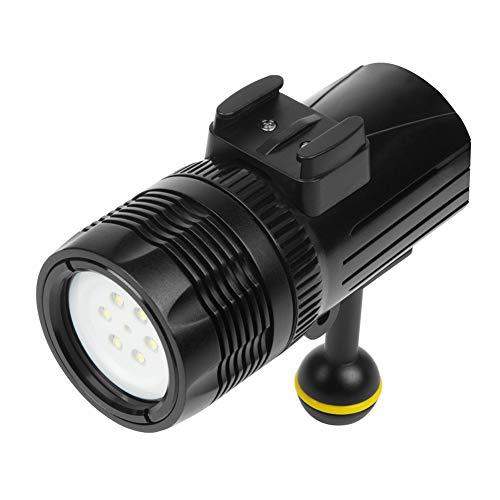 Fxhan LED duiklicht 60m waterdicht dimbare onderwater lichten voor GoPro Hero 6/5/5 s / 4/4 s / 3 +