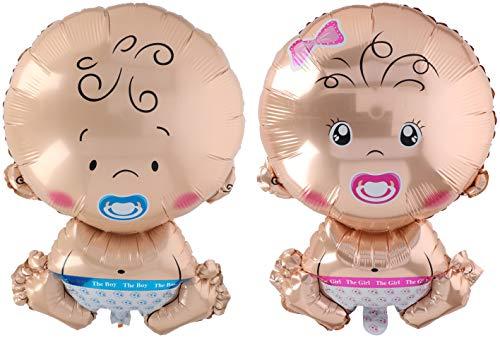 EI - Globo de aluminio para niños y niñas, juego de 2 unidades, aprox. 58 x 37 cm