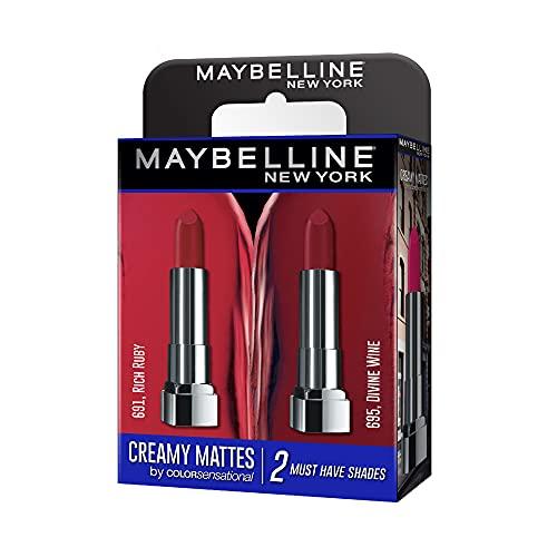 Maybelline Creamy Matte Rich Ruby & Divine Wine (Pack of 2)