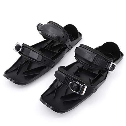 JJXD Mini ski Shoes - Skiboard Corto Snowblades - Raquetas de Nieve Ajustables, Sport Outdoor Snow Toard Ski Boots, Fácil de Transportar y Usar, Hombres Mujeres Universal Sports Ski Shoes