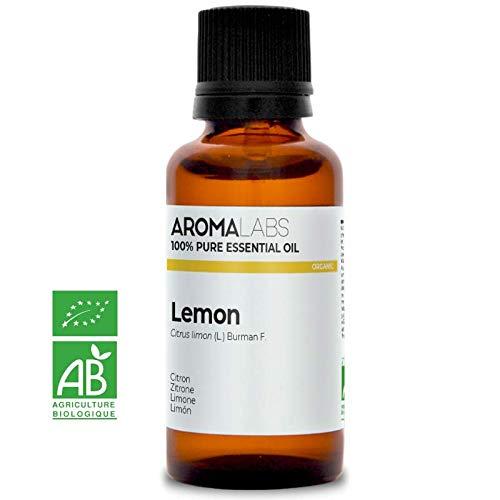 CITRON BIO - 30mL - Huile Essentielle Pure, Naturelle et Chémotypée - Qualité contrôlée par chromatographie - Aroma Labs