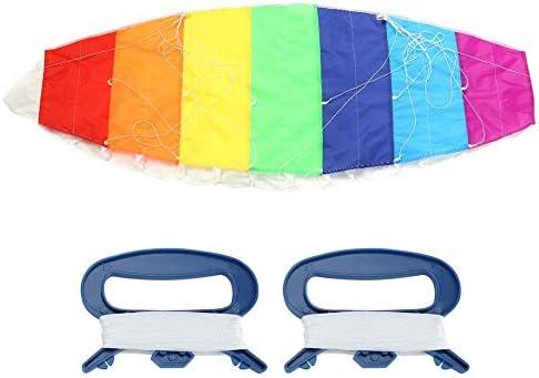 ROSEBEAR Vliegende Vlieger Sportvlieger Met Dual Line Stunt Power Kite Regenboogkleur Voor Buiten Surfen Aan Zee Strand Speelgoed 1 4 M