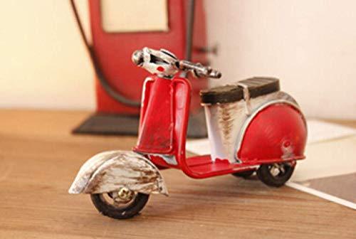 AJINS Artesanías Modernas Decoración Esculturas de Bicicletas eléctricas Estatuilla Mini Vintage Acabado...