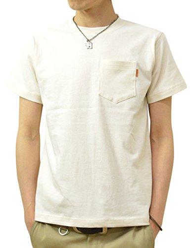 (ジーンズバグ)JEANSBUG 革タブ付 ポケT オリジナル 本革 タブ アクセント 半袖 無地 ポケット Tシャツ メンズ レディース 大きいサイズ PKST-L1 S ナチュラル(19)