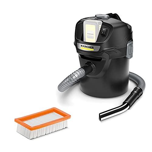 Kärcher 18 V Aspirador de cenizas y polvo AD 2 Battery, material ignífugo, filtros de una pieza, manguera, depósito: 14 l, potencia: 230 W, compatible con batería 18 V Kärcher, batería no incl.