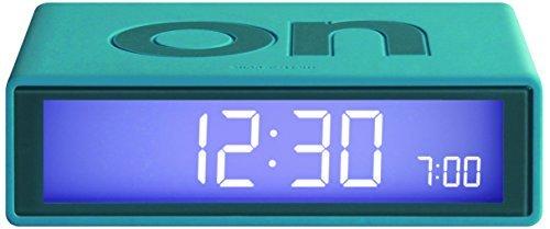 LEXON Flip Reloj Despertador Turquesa