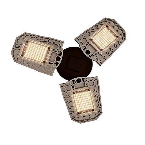 SHENAISHIREN LED Grow Light, Solar Full Spectrum 60W 80W 100W E27, Deformable Fold Warm White 3000K LED Plant Phyto Lamp Lights (Size : 80w)