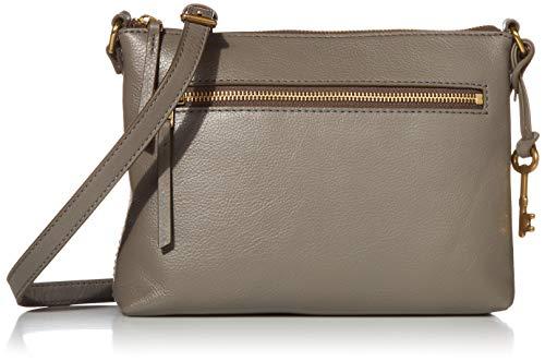 Fossil Women's Fiona Leather Small Crossbody Handbag, Grey