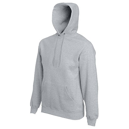 Fruit of the Loom - Kapuzen-Sweatshirt 'Hooded Sweat' L,Heather Grey