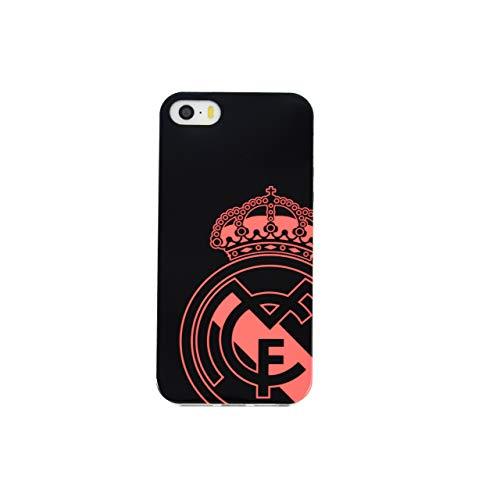 Carcasa Negra con Escudo Coral del Real Madrid Club de Futbol para iPhone 5