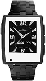 Slickwraps Gloss White Color Series Wraps/Skins for Pebble Steel Watch - Retail Packaging - Gloss White