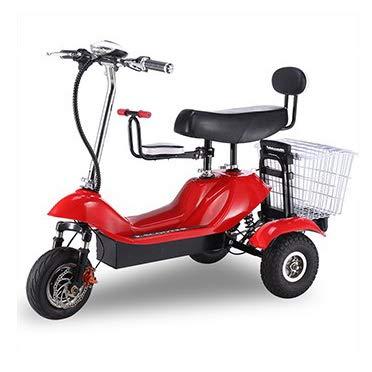 SHENXX Reducida, E-móvil, vehículo Avcibase, E-Triciclo, 25 kilometros/h, Colour Azul,Rojo