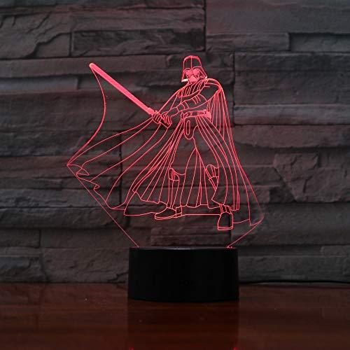 Solo 1 artículo 3D Light Yoda LED Night Light Lámpara de mesa USB Nightside Nightlight para regalos infantiles en todo el mundo