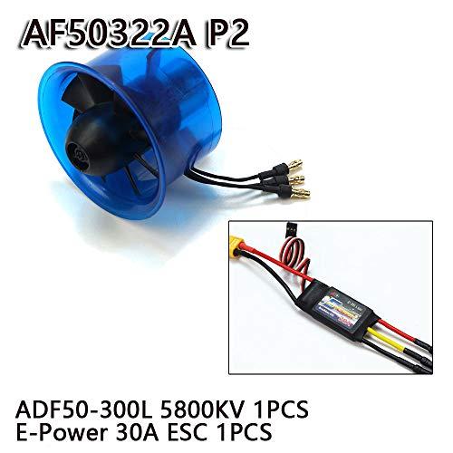 DW Hobby AEO RC EDF35/45/50/64/70 mm Ventilador de conducto Combo con ESC