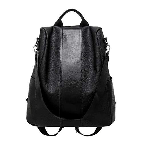 GDBEST Ladies Fashion Pu Leather Anti-Theft Ladies Backpack Multipurpose Convertible Rucksack School Bag Messenger Bag Backpack 3 Carrying Methods Adjustable Shoulder Straps,Valentine's Day Gift