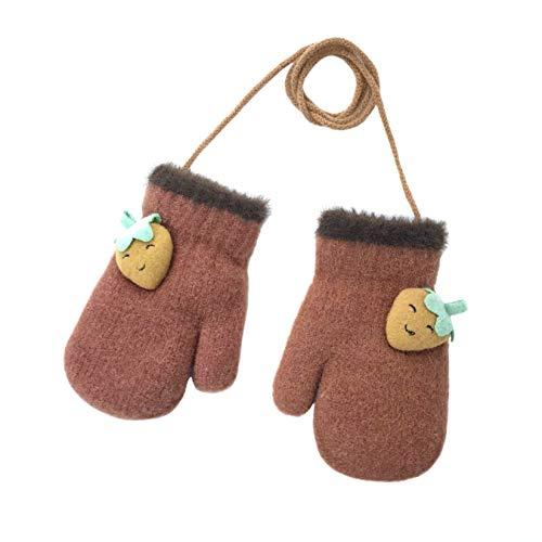 Warme Winterhandschuhe für Babys und Kleinkinder, niedliche Cartoon-Handschuhe, weich, gemütlich, flauschig, Vollfinger-Fäustlinge