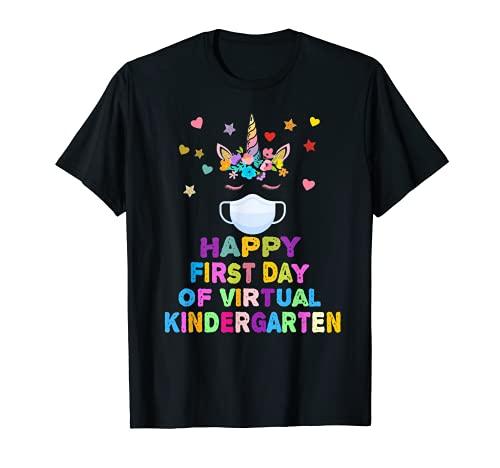 Feliz primer día de jardín de infantes virtual regalo para estudiante Camiseta