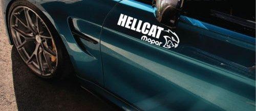 Hellcat Mopar Decal Sticker logo dodge ram Hemi R/T Nascar SS 12