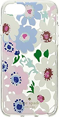 Kate Spade New York Womens Jeweled Daisy Garden Clear Phone Case for iPhone 8