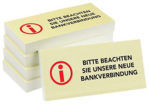 PRICARO HaftnotizenNeue Bankverbindung, 100 Blatt, 5 Stück
