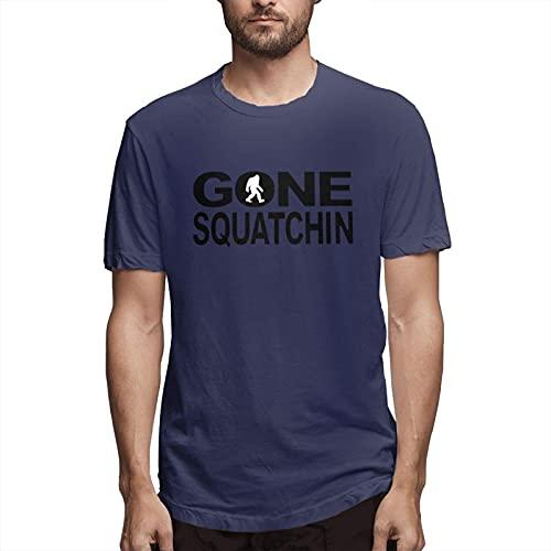 Bigfoot Gone Sasquatch Mans Short Sleeve 100% Cotton tee Shirt Classic Logo Series Graphic