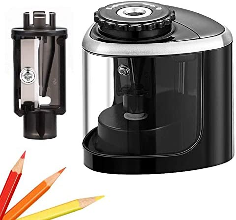Pencil Sharpener Electric Pencil Sharpeners Portable Pencil Sharpener Kids Blade to Fast Sharpen product image