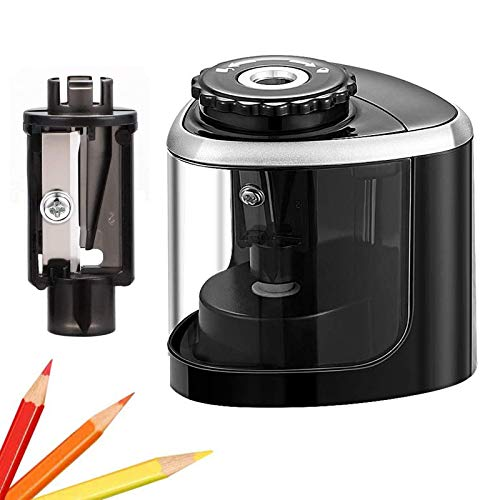 Pencil Sharpener Electric Pencil Sharpeners, Portable Pencil Sharpener Kids, Blade to Fast Sharpen, Suitable for No.2/Colored Pencils(6-8mm)/School...