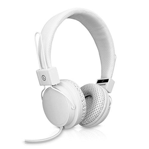 V7 HS2000-35-WHT-9EC Ultraleichtes Stereo-Headset - Weiß