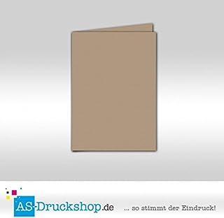 Faltkarte Doppelkarte - Taupe 100 Stück DIN A6 B07951Q1R9  Zuverlässige Qualität