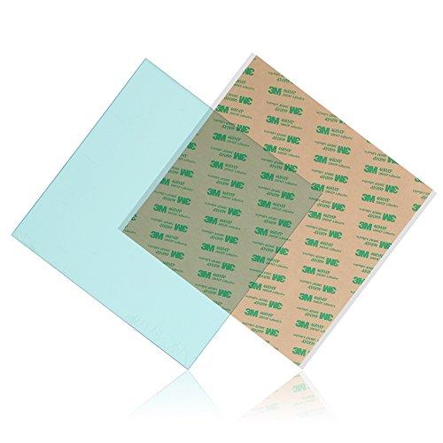 ASHATA 3D Printer PEI Sheet,300 x300 x 0.5/0.8/1mm PEI Sheet ABS PLA Build Surface for 3D Printer with Adhesive Tape (300 x300 x1mm)