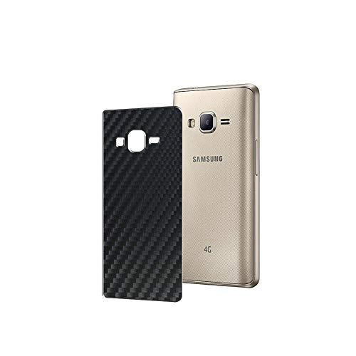 Vaxson 2 Unidades Protector de pantalla Posterior, compatible con Samsung Z2 2016, Película Protectora Espalda Skin Cover - Fibra de Carbono Negro