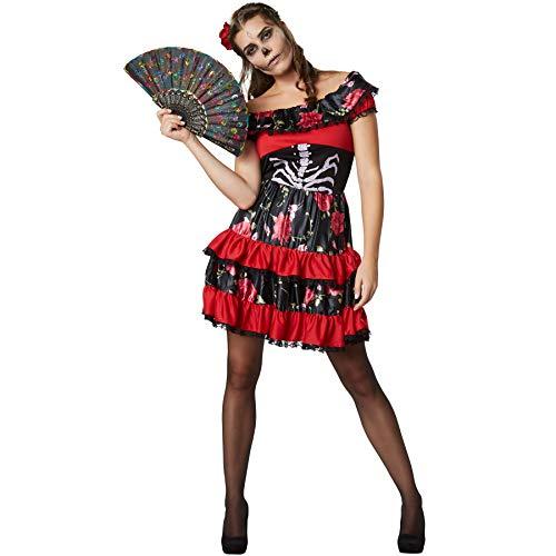 dressforfun 900417- Disfraz de Mujer Señorita Espeluznante, Vestido Carmen Sexy y Muy Colorido (S | No. 302010)