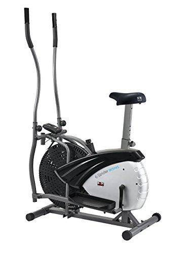 Body Sculpture Dual Action 2 in 1 Attrezzo per fitness bicicletta + ellittica, colore: argento/nero, 91 x 57 x 156 cm
