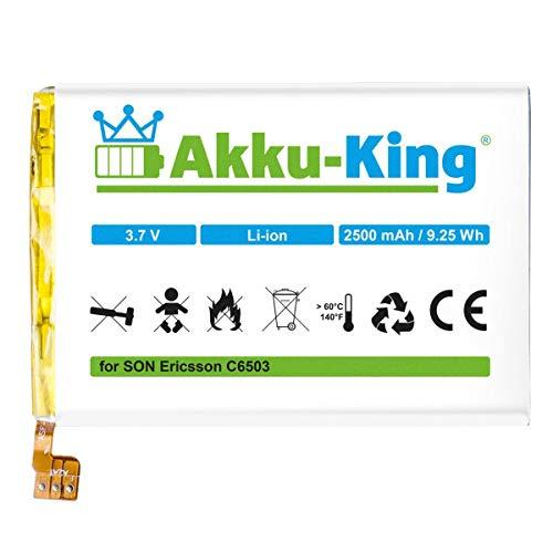 Akku-King Akku kompatibel mit Sony LIS1501ERPC - Li-Ion 2500mAh - für Xperia C, Xperia ZL, Xperia ZQ, Xperia C6502, Xperia C6503, Xperia C6505, Xperia C6506