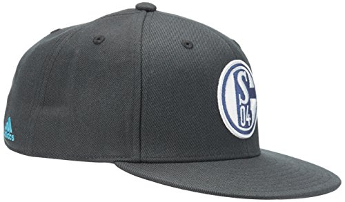 adidas Kappe FC Schalke 04 Flat Brim, Night Grey/Super Cyan, One size