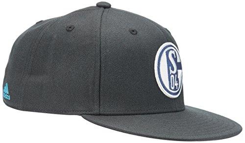 adidas Kappe FC Schalke 04 Flat Brim, Night Grey/Super Cyan, One size