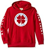 Lucky Brand Big Boys' Long Sleeve Pullover Hoody, Beige Lucky Chili Pepper, L