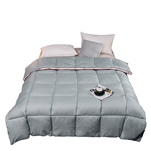 ZHKGANG Goose Down Duvet King Size Three-Dimensional Big Goose Down Quilt Warm Goose Down For Fall/Winter Cotton Thickened Duck Down Core Gift,Blue220*240cm-3kg