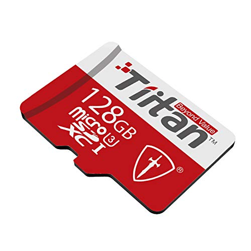 TIITAN 128GB UHS III MicroSDXC Memory Card (128GB) with Adapter